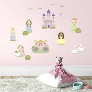 Ihanat prinsessat -seinätarrat - taianomainen lastenhuone