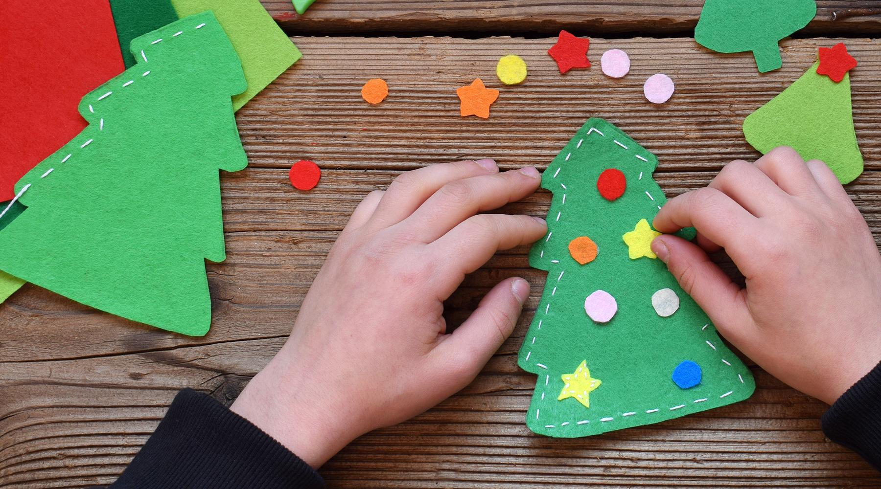 Helppo itse tehty joulukoriste tämän vuoden joulutyöpajassa