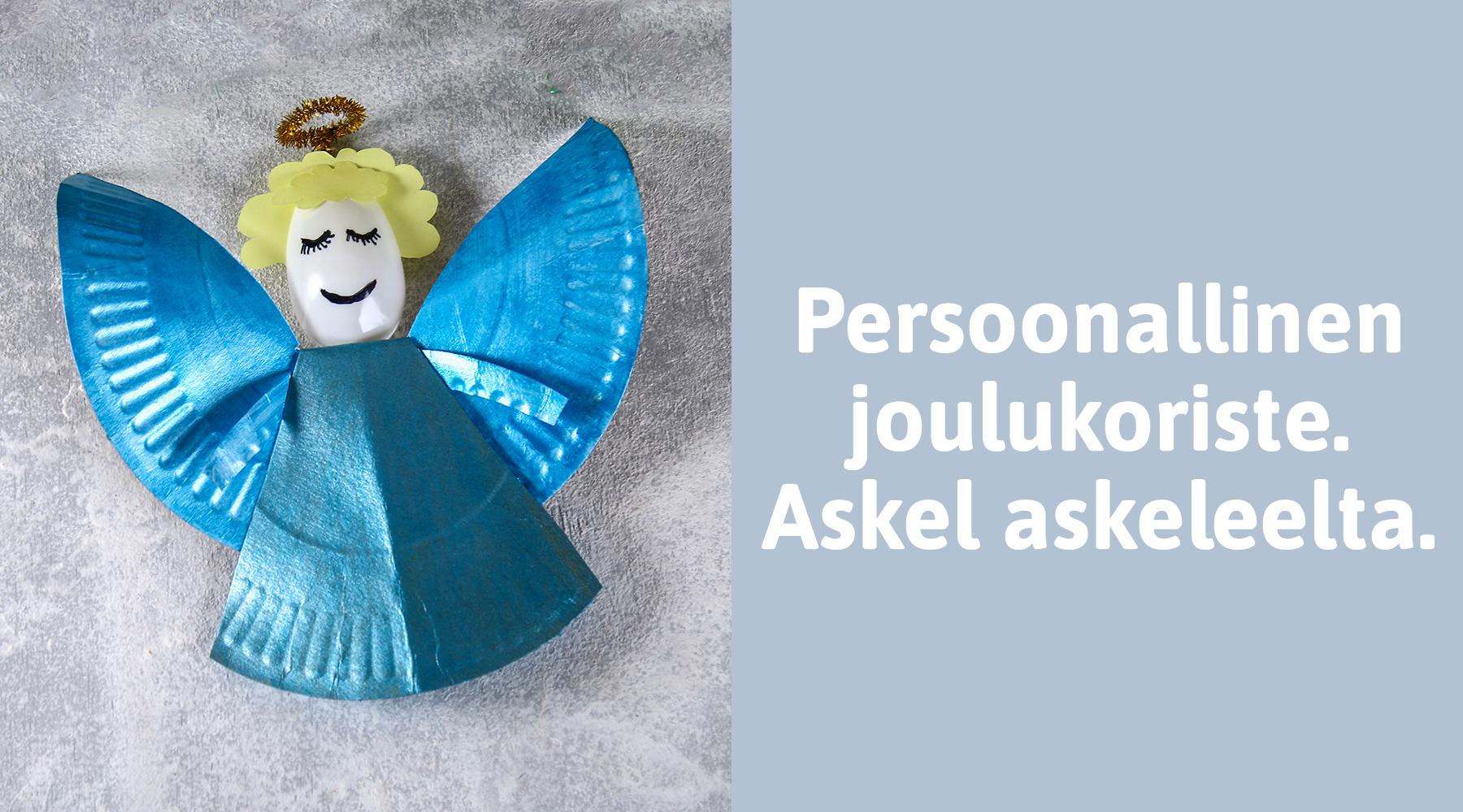 Tee enkeli tämän vuoden joulutyöpajassa