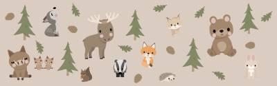 Seinätarrat: Metsän eläimet