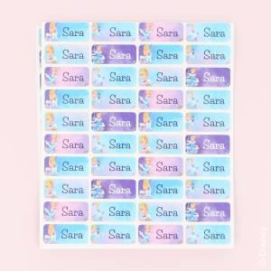 Värikkäät Disneyn Prinsessa -nimilaput